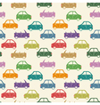 city car pattern color vector image