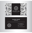 elegant wedding agency business card vector image