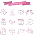 Icon of valentine day pink element vector image