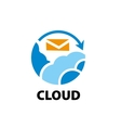 logo cloud vector image