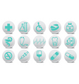 medicine buttons vector image