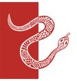 Patterned Snake Background vector image