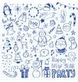Mega Doodle Design Elements Set vector image