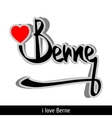 Berne greetings hand lettering Calligraphy vector image