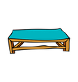 A wooden floor is placed vector image vector image