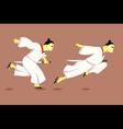 Samurai running vector image