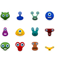 set of funny monsters emoticon vector image vector image