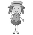 Little girl wearing a hat vector image