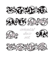 Set oriental decorative elements Zentangle black vector image