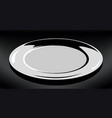 empty white plate round plate on vector image