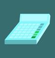 flat icon on stylish background economy calculator vector image