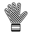 goalkeeper glove icon simple black style vector image
