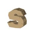 letter s stone font rock alphabet symbol stones vector image