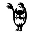 monster icon simple black style vector image