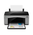 Realistic printer on white background for design vector image