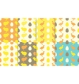Seamless patterns with chick and duckling vector image