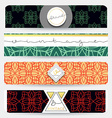 Set of 4 banners with geometric patternsBusinnes vector image