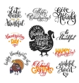 set of hand lettering inscriptions to thanksgiving vector image