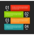 Simple modern infographics options banner box vector image
