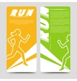 Sport brochure template with running woman vector image