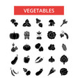 vegetables thin line icons linear vector image