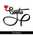 Bogota greetings hand lettering Calligraphy vector image