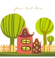 Cute cartoon house vector image