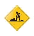 warning under construction repair sign vector image