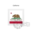 State of California flag postage stamp vector image