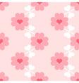 Heart flower soft seamless wallpaper vector image