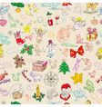 christmas rich pattern vector image