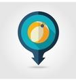 Beach Ball pin map flat icon Summer Vacation vector image