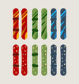 a set of mens and womens snowboard vector image