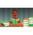 boy reading books vector image