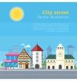 City Street Urban Landscape vector image