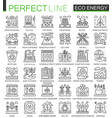eco energy outline mini concept symbols renewable vector image