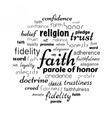 faith word cloud vector image