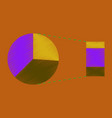 flat shading style icon pie chart vector image