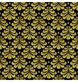 gold Damascus pattern vector image