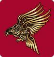Golden bird ornament vector image