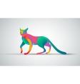 Gradient animal logo design Color cat silhouette vector image