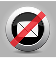 grey button - no mailing envelope vector image
