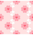 Heart flower soft seamless wallpaper vector image