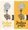 Italian pasta on fork vector image