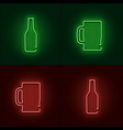 neon beer sign vector image