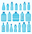 plastic bottles isolated icons set vector image