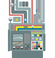 Production system Control Panel with buttons and vector image