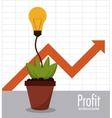 Profit icon design vector image