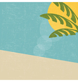 retro summer landscape vector image