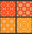 Set of geometric pattern vector image